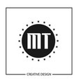 initial letter mt logo template design vector image vector image