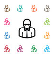 isolated bodyguard icon professional vector image