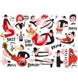 jazz musicians vector image vector image