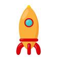 kid toy rocket vector image vector image