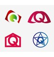 Letter Q logo icon design template elements set vector image vector image