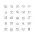 line icons set seo pack vector image vector image