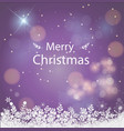 merry christmas purple background christmas vector image vector image