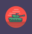 modern tank icon in flat style with outline vector image