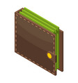 money wallet icon isometric style vector image vector image