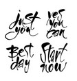 motivational lettering positive message vector image