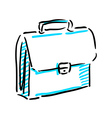 Office bag sketch vector image vector image