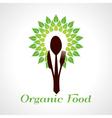 Organic food concept vector image vector image