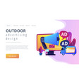 outdoor advertising design concept landing page vector image vector image