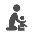 Parent potty baby pictogram flat icon isolated on vector image vector image