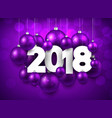 purple 2018 new year background vector image vector image