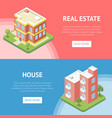real estate in town horizontal flyers vector image vector image