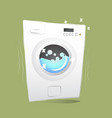 red washing machine in flat style isolated on vector image vector image