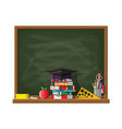 school or university blackboard vector image vector image