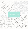 scribbles pattern collection vector image vector image
