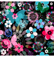 Seamless dark floral pattern vector image