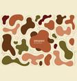 set abstract organic shapes earth tone colors vector image