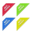 set flat signs best choice vector image vector image