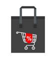 shopping bag big cart vector image vector image