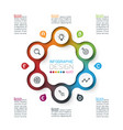six circles with business icon infographics vector image