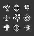 target icon set grey vector image vector image
