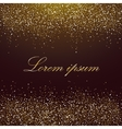Template with golden sparkles on a chocolate vector image