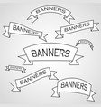 the original banners and ribbons of emblems and vector image vector image