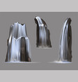 waterfalls isolated set vector image vector image