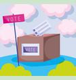 world ballot box politics election democracy vector image