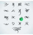 Set of handdrawn calligraphic elements vector image