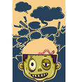 Zombie with worm on his head vector image