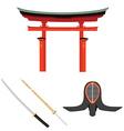 Japan martial art vector image