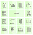 14 paper icons vector image vector image