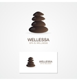Abstract stone logo with business card template vector image