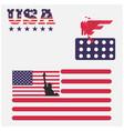american flag image usa flag icon vector image vector image