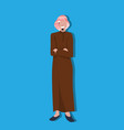 arabic business man icon folded hands wearing vector image vector image