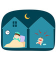 baby crying loudly at night vector image vector image