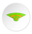 Baseball field icon cartoon style vector image vector image