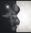 black and white christmas background with blurred vector image vector image