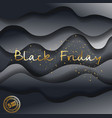black friday design with paper waves big vector image vector image
