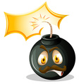 Bomb with angry face vector image