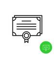 bonds outline icon stock share certificate market vector image
