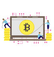 business of the bitcoin mining vector image