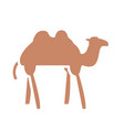 camel animal icon silhouette style design vector image vector image