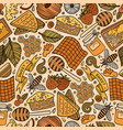 cartoon cute honey seamless pattern vector image vector image