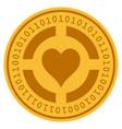 casino hearts digital coin vector image
