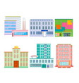 city public buildings houses flat design office vector image