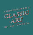 classic art typeface vintage font isolated vector image