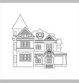 classic house design vector image vector image