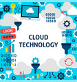 cloud technology paper template vector image vector image